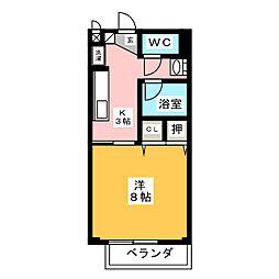 清水寮 B[1階]の間取り
