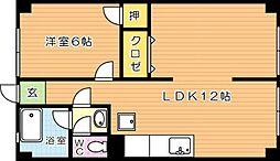 ヒカリハイツ[4階]の間取り