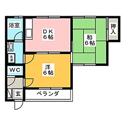 第2コーポふじ[1階]の間取り