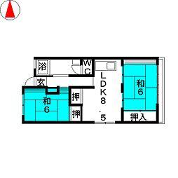 小島ビル[3階]の間取り