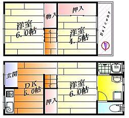 [テラスハウス] 大阪府摂津市鳥飼西3丁目 の賃貸【/】の間取り