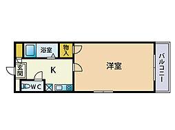 福岡県福岡市中央区今泉2の賃貸マンションの間取り