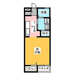 セントアース[2階]の間取り