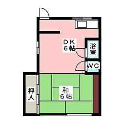高取ビル[4階]の間取り