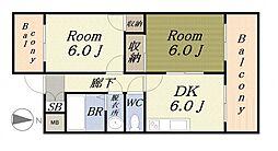 アットイージー3[3階]の間取り