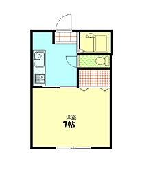神奈川県横須賀市吉井4丁目の賃貸アパートの間取り
