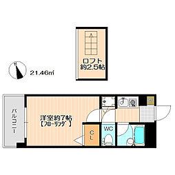 ジェイステージ飯倉[402号室号室]の間取り