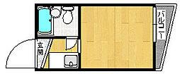 ルネッサンス塚本[6A号室]の間取り