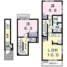 ケントクII[2階]の間取り