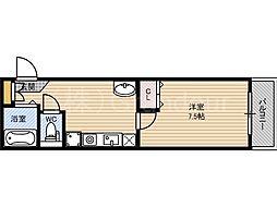 ラ・フォーレ都島北通[3階]の間取り