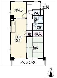 流通ビル[2階]の間取り