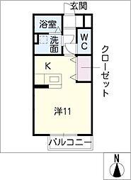 EVER GREEN AGARITO[1階]の間取り