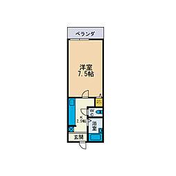 林山ハイツ[1階]の間取り