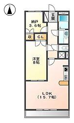 アニマーレ名城[6階]の間取り