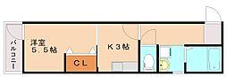 ドリ−ムパレス野間B[3階]の間取り