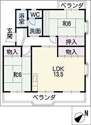 GOTANDA−VILLAII[1階]の間取り