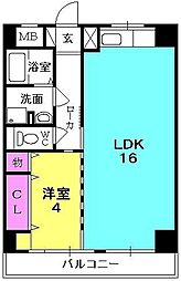 クレッセントイマヅ[201号室]の間取り