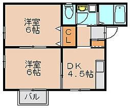フォレスト箱崎[1階]の間取り