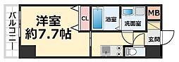CROUD尼崎 2階1Kの間取り