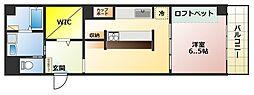 町田アネックス[4階]の間取り