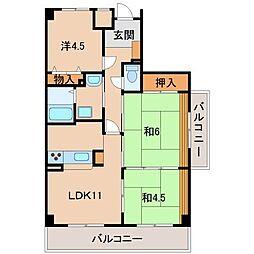 ライオンズマンション和歌山船戸1403号[14階]の間取り