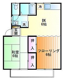 ロンドハウス[2f号室]の間取り