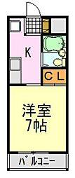 ウ・ボーヌンク石橋[C6号室]の間取り