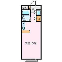 メゾンドヴェ−ル[3階]の間取り