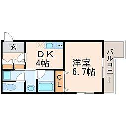 サウスサイド武庫之荘[1階]の間取り