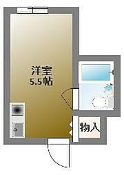 堀江グリーンハイツ[6階]の間取り