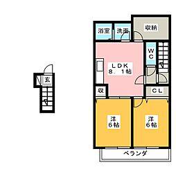 SAKYO21常滑[2階]の間取り