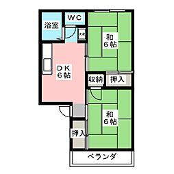 プレジール松浦[2階]の間取り