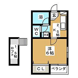 千葉ハイツ[2階]の間取り