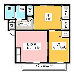 ピュアハーツ05[2階]の間取り