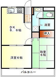 アシューレ鎌倉[2階]の間取り