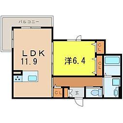 ターナーSumiyoshi[308号室]の間取り