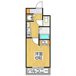 プレサンス京大東[411号室]の間取り