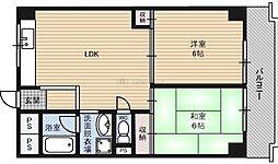シティハイツ雅 3階2LDKの間取り