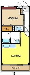 愛知県名古屋市緑区徳重4丁目の賃貸マンションの間取り
