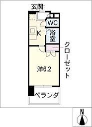 愛知県名古屋市西区花の木3丁目の賃貸マンションの間取り