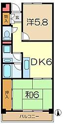 ヨコオマンション[4階]の間取り