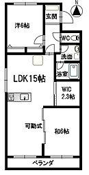 キャッスル東栄B棟[3階]の間取り