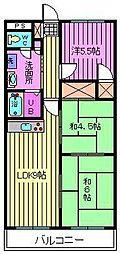 上小町大鉄ビル[202号室]の間取り
