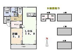 レジデンス クロルセ B[201号室]の間取り