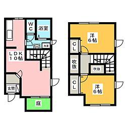 Liverty dreamI II[1階]の間取り
