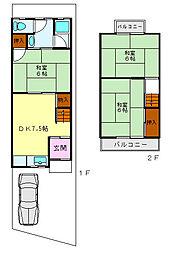 [テラスハウス] 大阪府堺市西区上野芝町7丁 の賃貸【/】の間取り