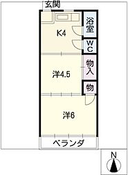 東洋アパート[4階]の間取り