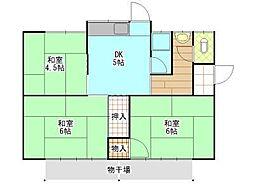[一戸建] 岡山県岡山市東区松新町 の賃貸【/】の間取り