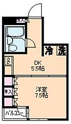 東京都品川区小山4丁目の賃貸マンションの間取り