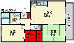 グリーンライフ古賀[3階]の間取り